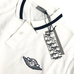 Brand New Dior x Jordan Wings Polo Shirt